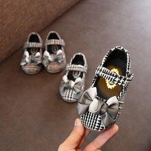 Г. Новая Осенняя обувь для девочек 1-3 лет, нескользящая Мягкая подошва, красивая принцесса обувь лук, обувь