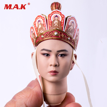1/6 Scale Male Head Sculpt Model Toys Journey to the West Tang Monk Man Head Carving Toy for 12 inches Action Figure 1 6 head sculpt the avengers 2 captain america steve rogers no neck head carving model for 12 action figure toys accessories