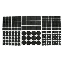 12/30/48Pcs Multifunction Black Self Adhesive Furniture Leg Table Chair Sofa Feet Floor Non-slip Mat Sticky Pad Protector(China)