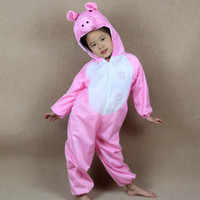 Christmas New Year Boy Girl Children Cute Cartoon Animal Pig Cosplay Costumes For Kids Animals Jumpsuit