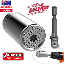 Gator Grip Universal Socket Wrench Power Drill Adapter 2 Piece Set Nut Bolt Tool
