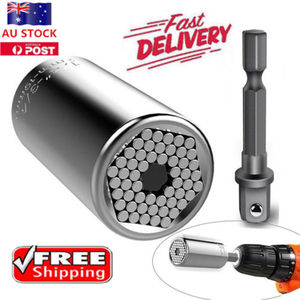 Image 1 - Gator Grip Universal Socket Wrench Power Drill Adapter 2 Piece Set Nut Bolt Tool