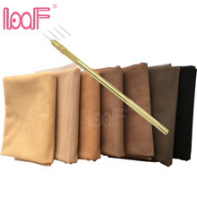 LOOF 1 Yard Pattern Swiss Lace Net + Ventilating Needles Kit for Making Lace Wig Foundation Accessories Weaving Tools
