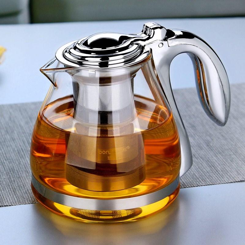 large capacity tea pot elegant cup glass tea set glass