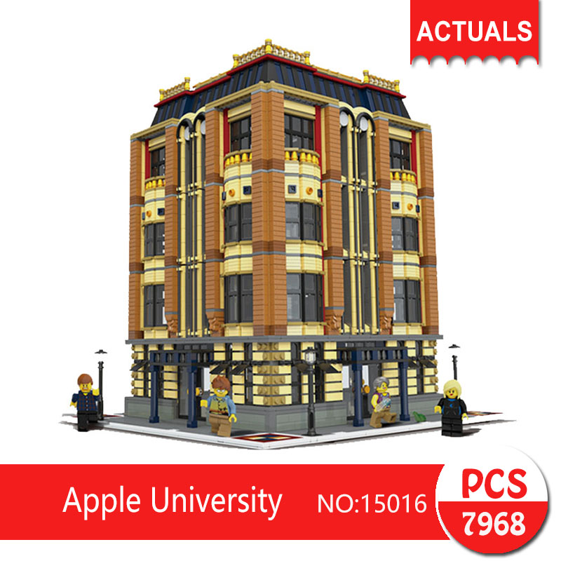 Lepin 15016 7968Pcs Street View series Apple University Model Building Blocks Set  Bricks Toys For Children wange Gift car styling tail lights for audi a4 a4l 2008 2012 taillights led tail lamp rear trunk lamp cover drl signal brake reverse