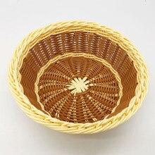 4pcs fruit storage basket desktop finishing snacks snack rattan plastic pp environmentally friendly small size