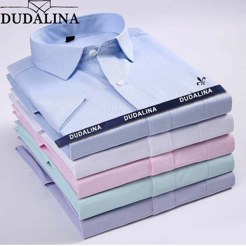 Dudalina Camisa Male Shirts Short Sleeve Men Shirt Camisa Social Masculina Brand Clothing Casual Slim Fit Chemise Homme