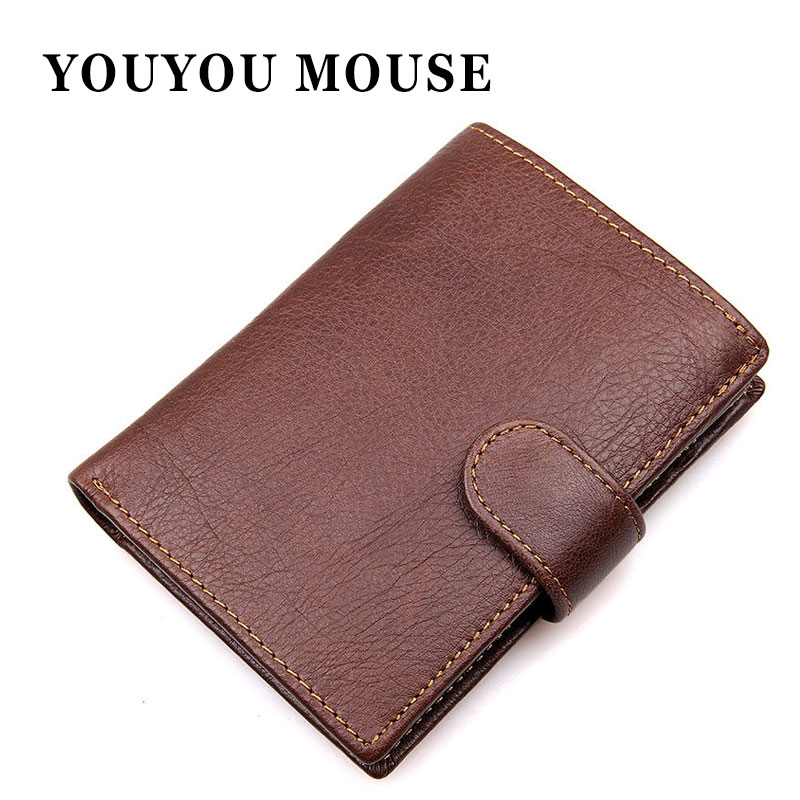 YOUYOU MOUSE Fashion Business Men Card Holder Wallets Soft Genuine Leather Man Clutch Money Purse Short Design Coin Pocket frank buytendijk dealing with dilemmas where business analytics fall short