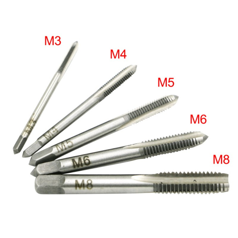 Tools Hearty 7pcs T-type Machine Hand Screw Ratchet Tap Wrench Adjustable Machine Screw Thread Metric Plug Tap Machinist Wood Tool Sturdy Construction