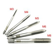 5pcs M3-M8 Straight Flute Hand Screw Thread Metric Plug Hand Tap Tapping Screw Thread Metric Plugs Taps Set(China)