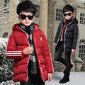 Kids boys winter padded jacket 2016 new baby boys fashion clothing big virgin hooded coat 5/6/7/8/9/10/11/12/13 years