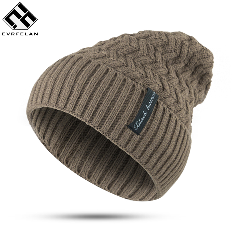 Hot Sales! Winter Knitting Hat Women Hat For Man Skullies Beanies Warm Cap Man Beanie Hat High Quality Headgear Drop Shipping skullies hot sale candy sets color pointed hat knitting hat sets hat cap 1866951
