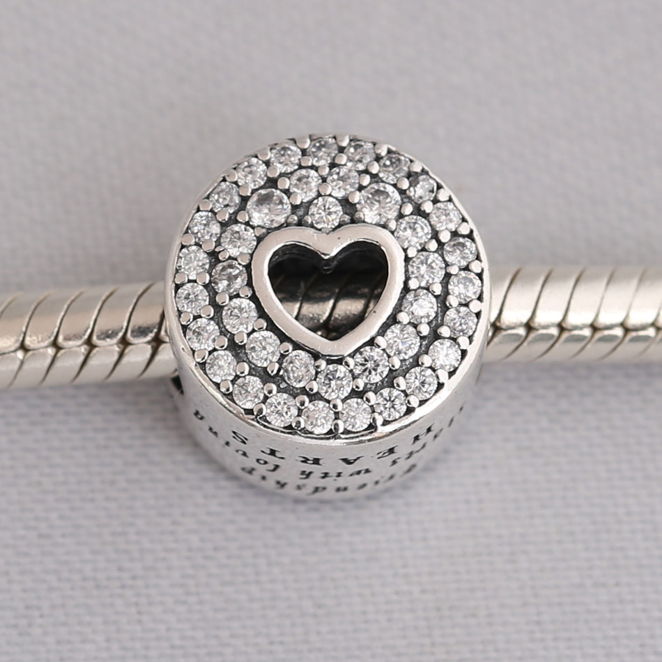 4d06dfd4b Authentic S925 Sterling Silver DIY Jewelry Friendship Charm Fit Pandor
