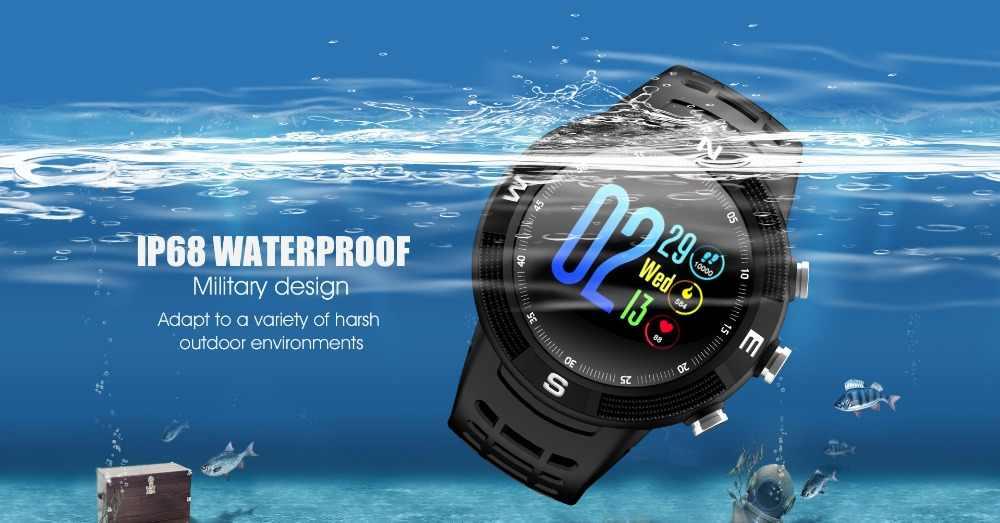 2019 новые IP68 Водонепроницаемые gps Смарт-часы F18 с цветным экраном и большой батареей Монитор скорости звука для мужчин и женщин спортивные Смарт-часы