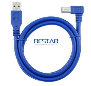 Image 4 - 90 Gradi Destro Angolato USB 3.0 A Maschio a USB 3.0 Tipo B maschio BM USB3.0 Cavo 0.6 m 1 m 1.8 m 2FT 3FT 6FT Per scanner stampante HDD