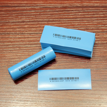 100pcs/lot 18650 Lithium Battery Blue Bar Code Heat Shrinkable Sleeve Imported Skin Flame Retardant Casing bernard naafs imported skin diseases