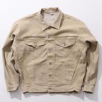 Streetwear Erkekler Sıkıntılı Denim Ceket Erkek Bej Jean Ceketler Bırak Omuz Tasarım Yeni 2017 Boy Denim Ceket Yüksek Sokak