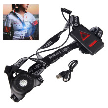 Outdoor Sport LED Night Running Light USB Rechargeable Chest Lamp Safety Jogging Warning Light Cycling Torch(China)