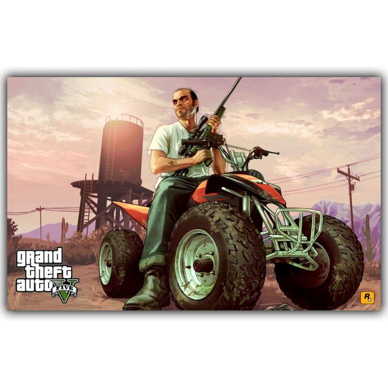 Grand Theft Auto V GTA 5 игры Книги по искусству Шелковый плакат печать 30x48 см 60x96 см игры настенные панно для Декор в гостиную