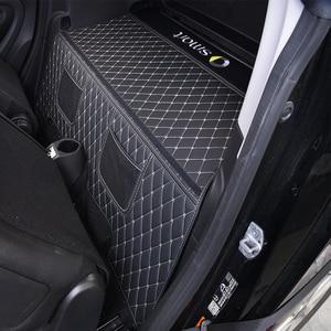 Image 2 - Bagagliaio di unauto mat logo accessori decorativi styling per la nuova smart 453 fortwo scatola Posteriore Integrato in pelle anti sporco di protezione pad