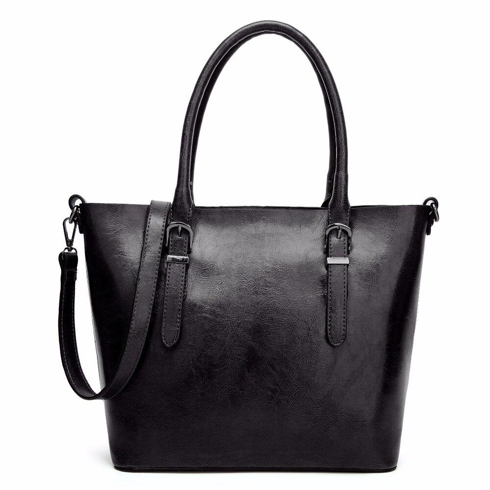Luxury Design Womens Real Retro Leather Casual Tote Purse Female Shoulder Handbag Ladies Large Capacity Shopping Bag Bolsos