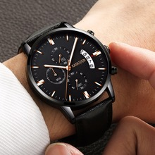 KASHIDUN. Men's Watches Sporty Casual Quartz Analog Watches Military Multi-functions 24 Hours Time Simple Calendar. TL-839
