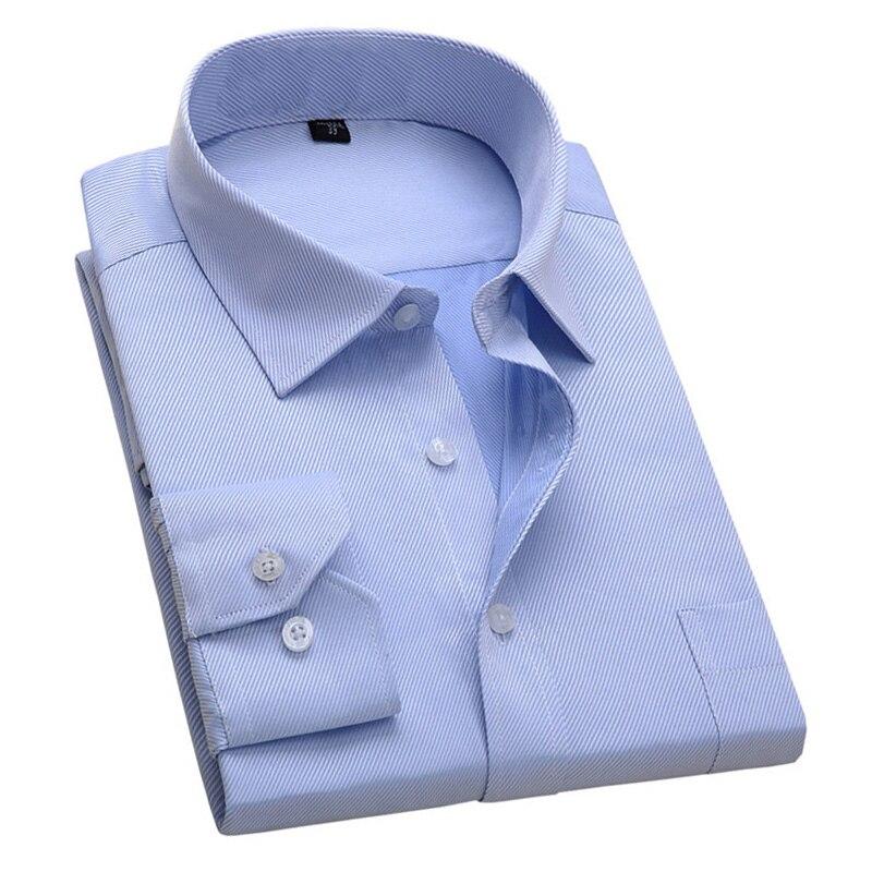 2018 Nuovo Disegno Twill Di Cotone Di Colore Puro Bianco Business Formale Camicie Eleganti Di Modo Degli Uomini Manica Lunga Camicia Sociale Di Grande Formato 5xl 6xl L'Ultima Moda