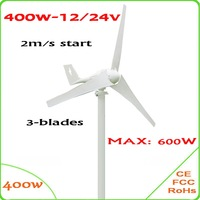 Economy 3 Blades 1 3m Wheel Diameter400W 12V Or 24V AC Wind Turbine Generator Only 2m