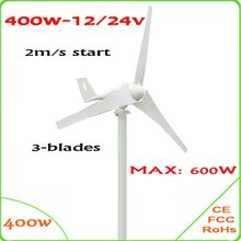 100d3135827 400 W gerador de energia eólica do CE   RoHS aprovado alta-eficiência do  vento