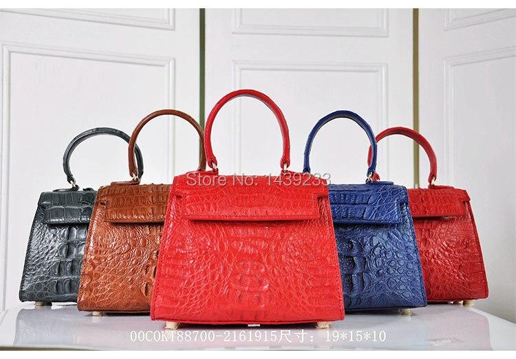 100% Echtem Krokodil Haut Leder Frauen Handtasche, Krokodil Haut Kleine Größe Frauen Schulter/kreuz Körper Tasche Vertrieb Von QualitäTssicherung