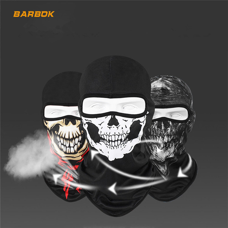 3D Skull Balaclava Motorcycle Full Face Mask Hats Cycling Snowboard Ski Shield Ghost Biker Helmet Inner Lining Caps Face Mask
