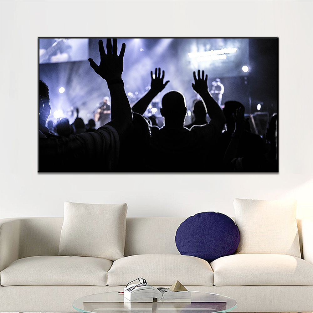 Unframed Canvas Print Painting Music Concert Scene Stage Lighting Painting Posters Wall Picture For Living Room Home Decor