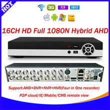 HD 16CH 240fps 1080N CCTV AHD recorder onvif p2p cloud 16Channel 1080P Hybrid AHD HVR DVR