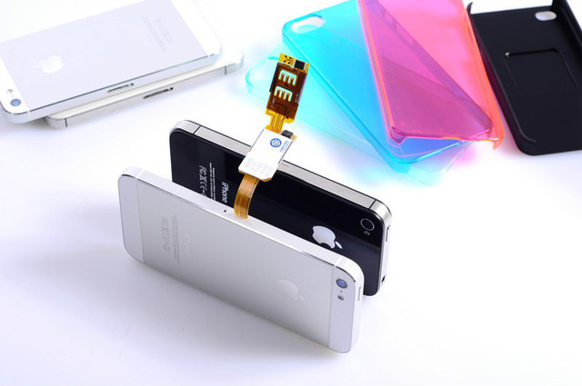 New Arrival!!! Dual SIM Adapter with Case for iPhone4S/4