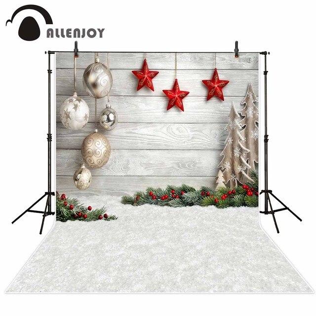 Allenjoy Photographic Background Christmas Tree White Snow