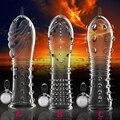 Eve reutilizable condom extensión del pene manga del pene estimulación dick cock rings vibrador pene anillo juguetes sexuales productos del sexo
