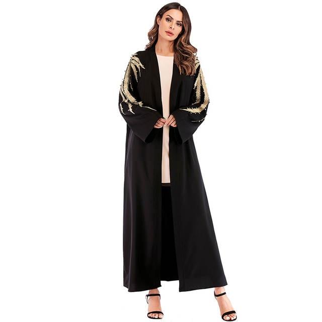 b57980b93e9321 € 24.95 54% de réduction|Abaya Dubai Caftan L'islam Turquie gilet broderie  Musulman Hijab Robe Robe Qatar Caftan Abayas Femmes Turc vêtements ...