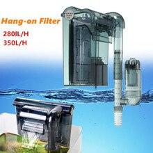 Подводная аквариумная 3-в-1 внешний висит Мощность фильтр для водопада внешний аквариумный воздушный насос HI-330/HI-430