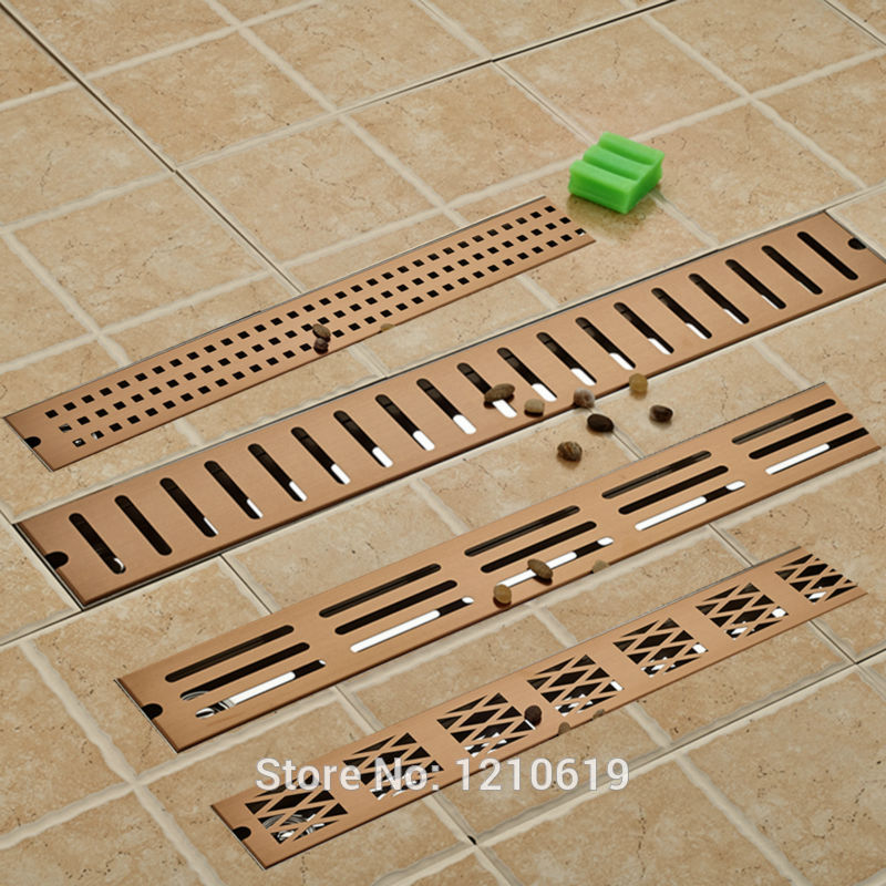 Newly Arrival Solid Brass Golden Rose 70 10cm Vanity Bathroom Kitchen Room Deodorization Floor Drain