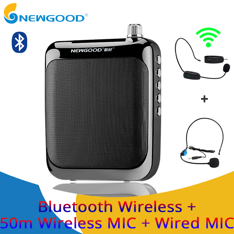 Bluetooth Voice Amplifier Megaphone Booster Microphone Mini Portable Speaker with USB TF Card FM radio for Teacher Tour Guide rolton k300 megaphone portable voice amplifier waist band clip support fm radio tf mp3 speaker power bank tour guides teachers