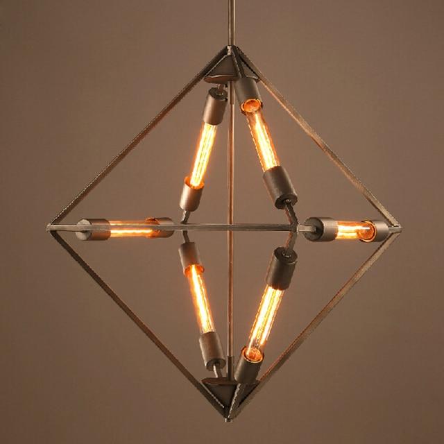Loft Creative Personality Droplight Restaurant KTV Living Room Bedroom Bar Diamond  Lamps Retro Chandelier