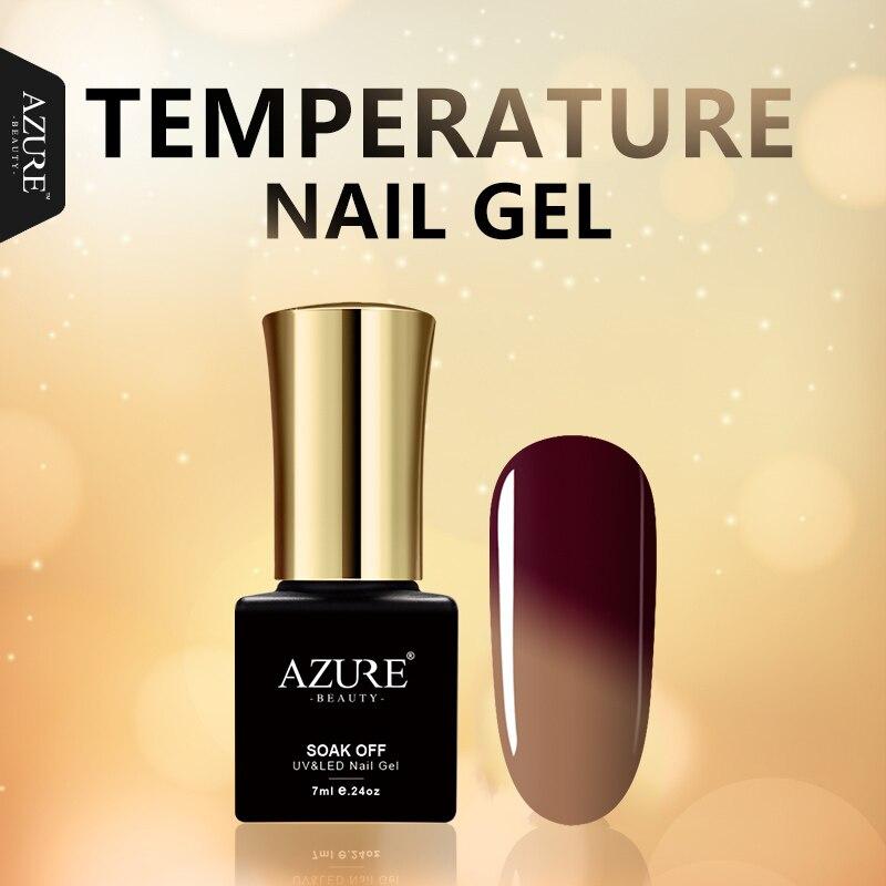 AZURE BEAUTY Temperature Change Color Gel Polish Nail Paint Semi permanent Hybrid Polish Gel Varnishes Soak