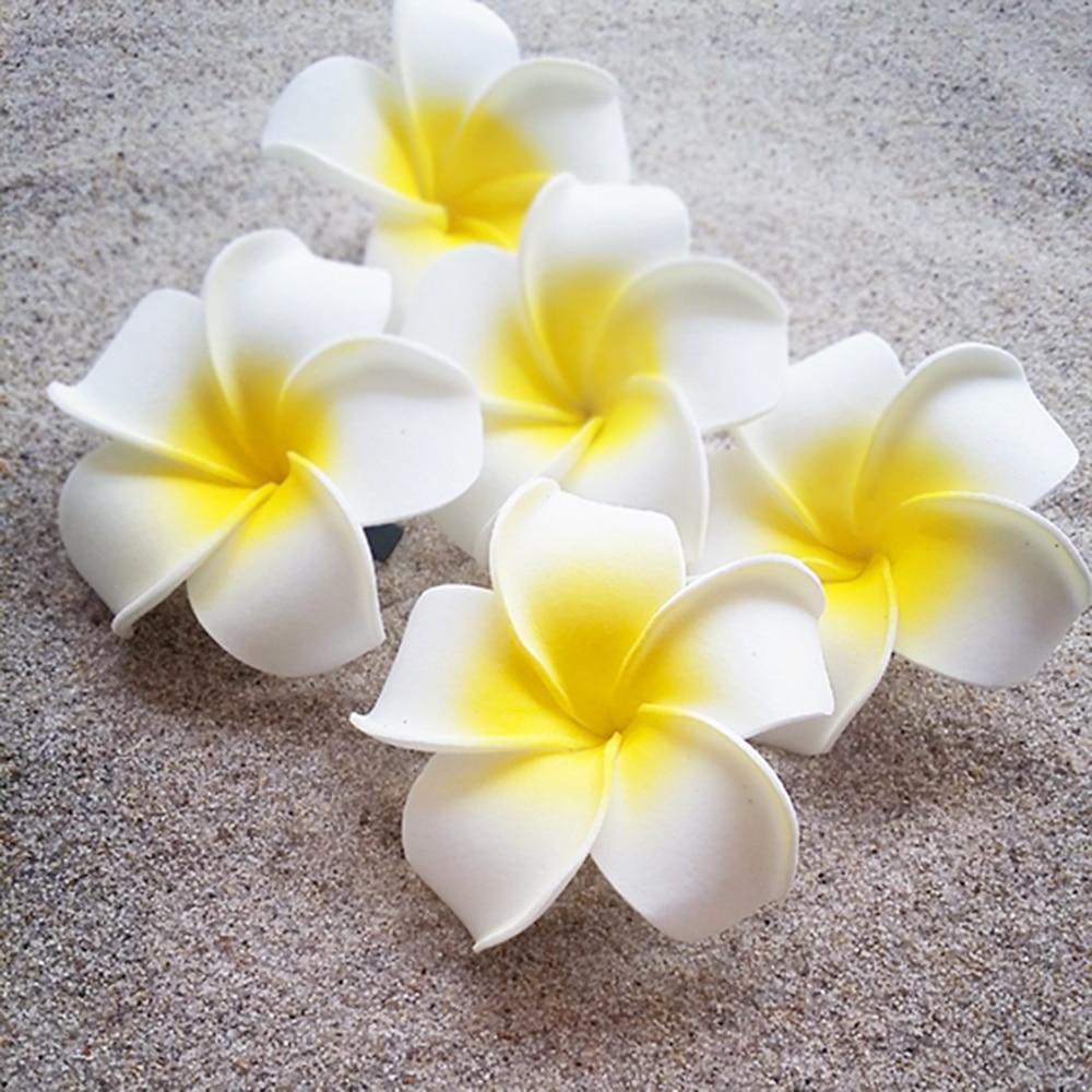 6pcslots Women Yellow Hawaiian Flower Hair Clip Bridal Wedding