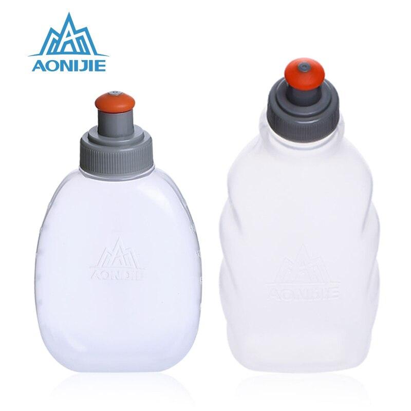 AONIJIE 2019 Yumşaq Su Çantası Açıq İdman Şüşəsi Davamlı Marafon Alpinizm Kamp Yürüşü Su Şüşəsi 170 / 250ML