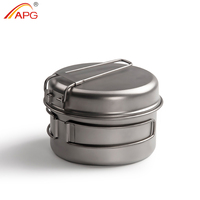 2015 Outdoor Sports Equipment Camping Cooker Titanium Multiple Use Dish Pot Camping Cookware