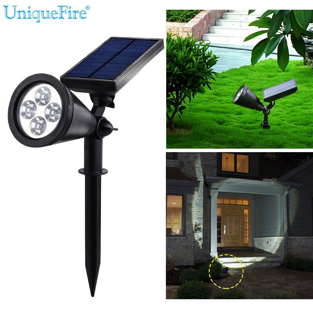 UniqueFire 4 LED Solar Light Landscape Lamp Outdoor Solar