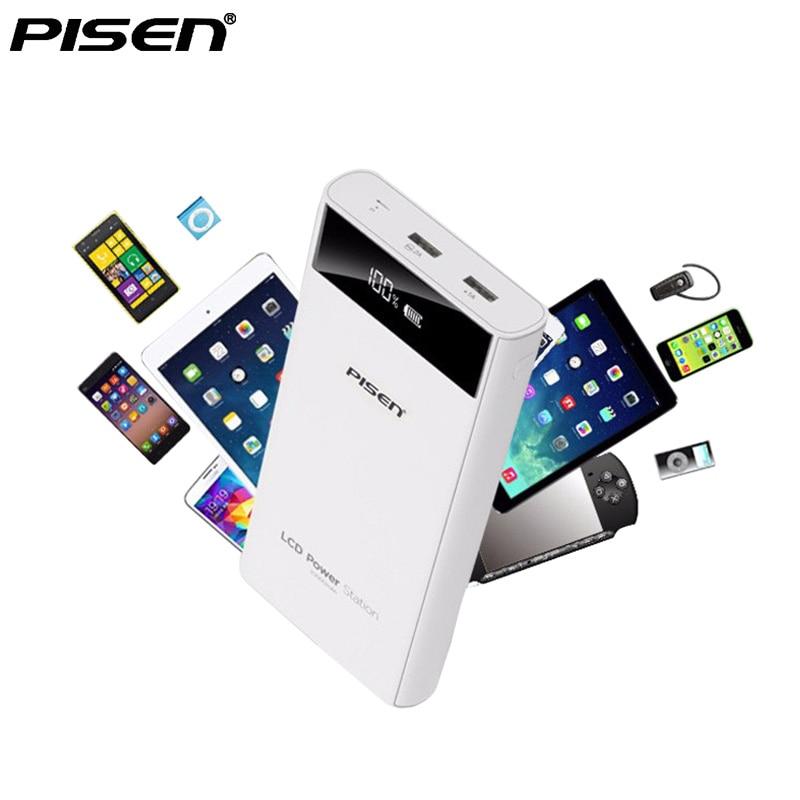 Pisen Power Bank 10000mah 20000mah Lcd Screen External