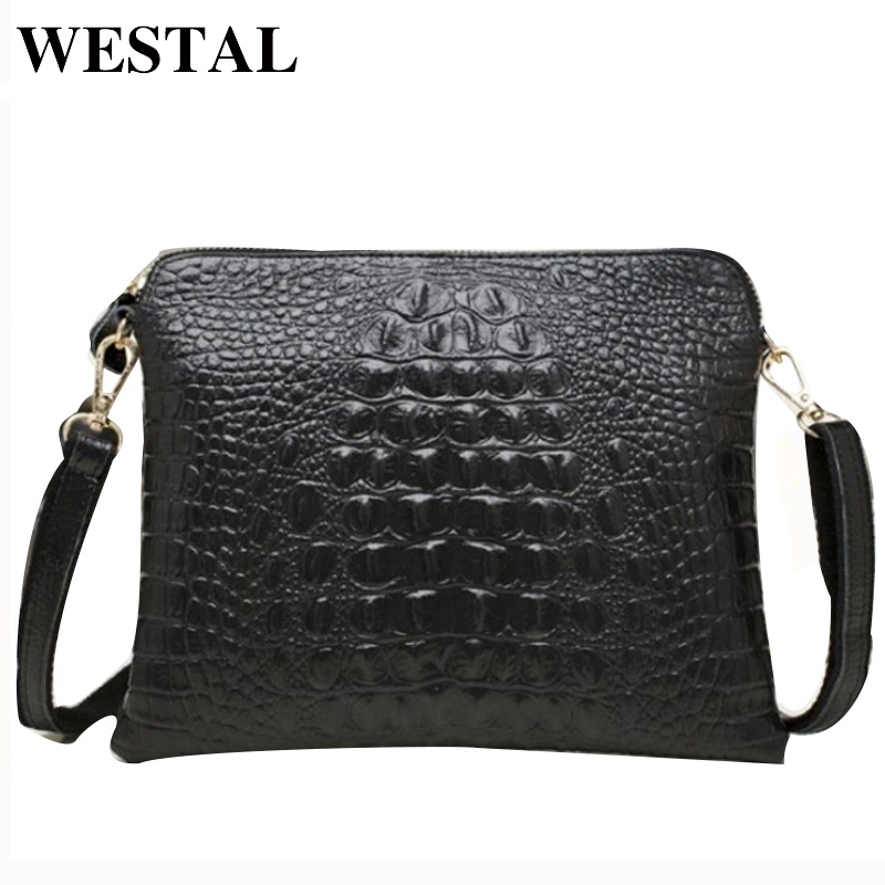 WESTAL Women Messenger Bags ladies Genuine Leather Womens Shoulder Bag Female Crossbody Bags Leather Clutches Bag Women
