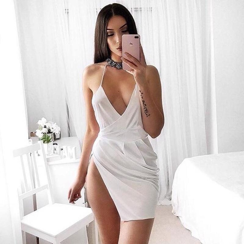 HTB1vKNJXlUSMeJjSszcq6znwVXaP - Women Sexy Backless Split Dress JKP086