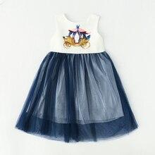 Bongawan/Детское платье для девочек, коллекция года, вечерние платья принцессы с принтом машины для свадьбы, летняя одежда для маленьких девочек возрастом от 2 до 8 лет